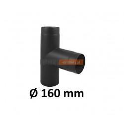 Trójnik kominowy żaroodporny 160 mm czarny 90 stopni