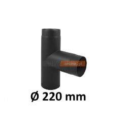 Trójnik kominowy żaroodporny 220 mm czarny 90 stopni