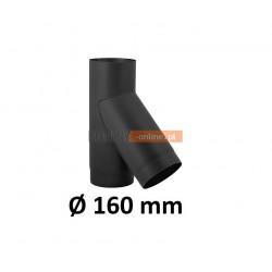 Trójnik kominowy 160 mm żaroodporny czarny 45 stopni