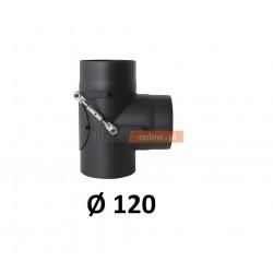 Trójnik kominowy żaroodporny 120 mm kierunkowy 90 stopni