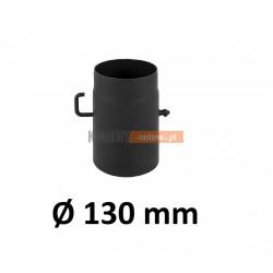 Szyber kominowy 130 mm żaroodporny z krótką rączką czarny