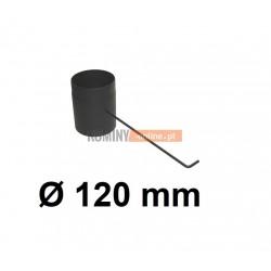 Szyber kominowy czarny 120 mm z długą rączką