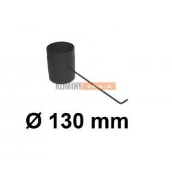 Szyber kominowy czarny 130 mm z długą rączką