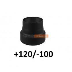 Redukcja kominowa zmniejszająca +120/-100 mm CZARNA