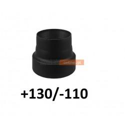 Redukcja kominowa zmniejszająca +130/-110 mm CZARNA