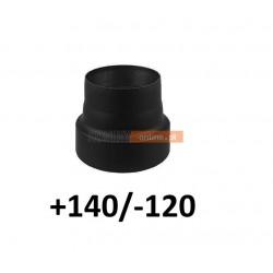 Redukcja kominowa zmniejszająca +140/-120 mm CZARNA