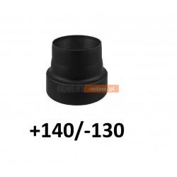 Redukcja kominowa zmniejszająca +140/-130 mm CZARNA