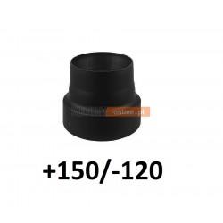 Redukcja kominowa zmniejszająca +150/-120 mm CZARNA