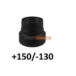 Redukcja kominowa zmniejszająca +150/-130 mm CZARNA