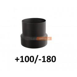 Redukcja do komina zwiększająca +100/-180 CZARNA