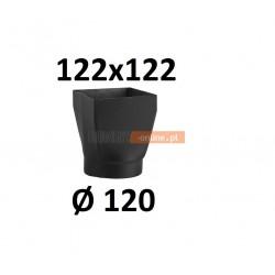 Redukcja kominowa żaroodporna czarna czopuch 122x122/120 mm