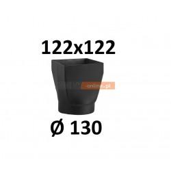 Redukcja kominowa żaroodporna czarna czopuch 122x122/130 mm
