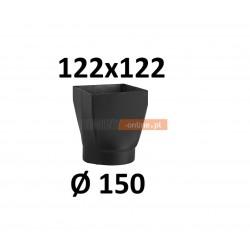 Redukcja kominowa żaroodporna czarna czopuch 122x122/150 mm