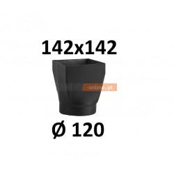 Redukcja kominowa żaroodporna czarna czopuch 142x142/120 mm