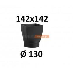 Redukcja kominowa żaroodporna czarna czopuch 142x142/130 mm