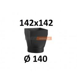 Redukcja kominowa żaroodporna czarna czopuch 142x142/140 mm