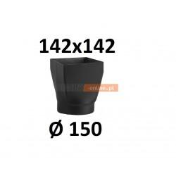 Redukcja kominowa żaroodporna czarna czopuch 142x142/150 mm