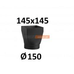 Redukcja 145x145/150 mm CZARNA