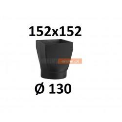 Redukcja kominowa żaroodporna czarna czopuch 152x152/130 mm
