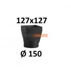 Redukcja kominowa żaroodporna czarna czopuch 127x127/150 mm