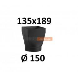 Redukcja kominowa żaroodporna czarna czopuch 135x189/150 mm