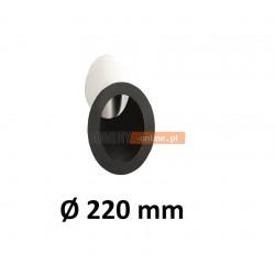 Wkładka kątowa 220 mm do komina murowanego CZARNA