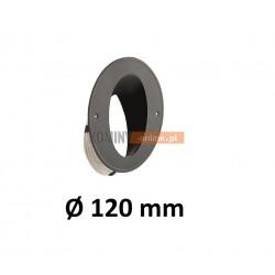 Wkładka kominowa kątowa 120 mm ze sznurem CZARNA