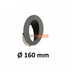 Wkładka kominowa kątowa 160 mm ze sznurem CZARNA