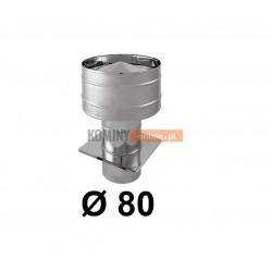 Wywietrzak cylindryczny 80 mm CHROM
