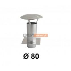 Daszek kominkowy 80 mm z podstawą do wentylacji ocynk