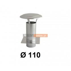 Daszek kominkowy 110 mm z podstawą do wentylacji ocynk