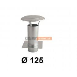 Daszek  kominowy z podstawą 125 mm OCYNK