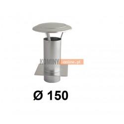 Daszek kominowy z podstawą 150 mm OCYNK