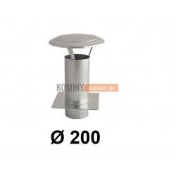 Daszek kominkowy 200 mm z podstawą do wentylacji ocynk