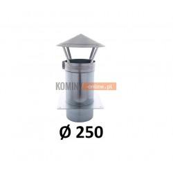 Daszek 250 mm z podstawą kwadratową do spalin kwasoodporny