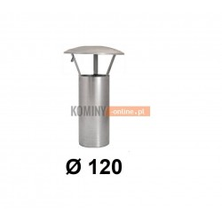 Daszek kominkowy 120 mm bez podstawy ocynk