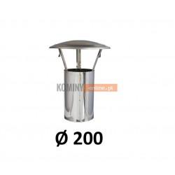 Daszek kominowy bez podstawy 200 nierdzewny