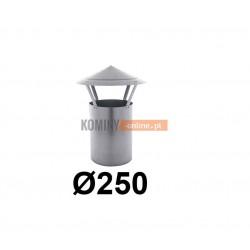 Daszek kominkowy 250 mm bez podstawy ocynk