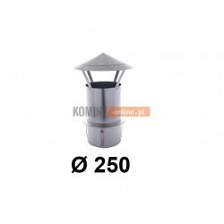 Daszek kominkowy 250 do kominów ceramicznych ocynk