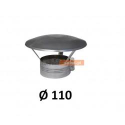 Daszek spalinowy nierdzewny 110 mm z obejmą