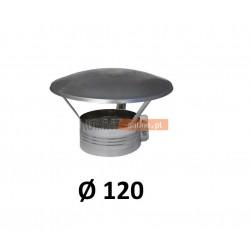 Daszek spalinowy nierdzewny 120 mm z obejmą