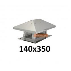 Osłona na komin 140x350 mm z siatką
