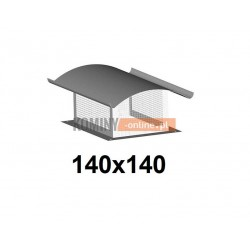 Osłona na komin z siatką 140x140 mm