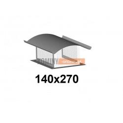 Osłona na komin z siatką 140x270 mm