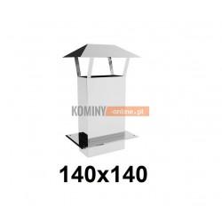 Przedłużenie daszkiem 140x140 mm