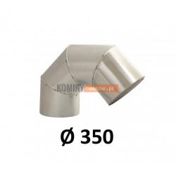 Kolano wyrzutowe z siatka 350 mm