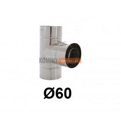 Trójnik 87° powietrze-spaliny 60-100 mm