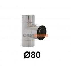 Trójnik 87° powietrze-spaliny 80-125 mm