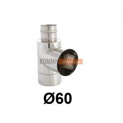 Trójnik boczny 90° powietrze-spaliny 60-100 mm