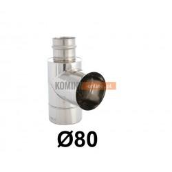 Trójnik boczny 90° powietrze-spaliny 80-125 mm